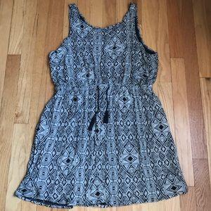 Lucky Brand tribal design summer dress w pockets